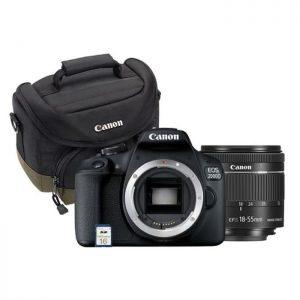 Canon EOS 2000D + Objectif EF-S 18-55mm + Sacoche de transport +Carte 16 Go SDHC
