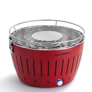 LotusGrill G34 U Rouge – Barbecue sans fumée